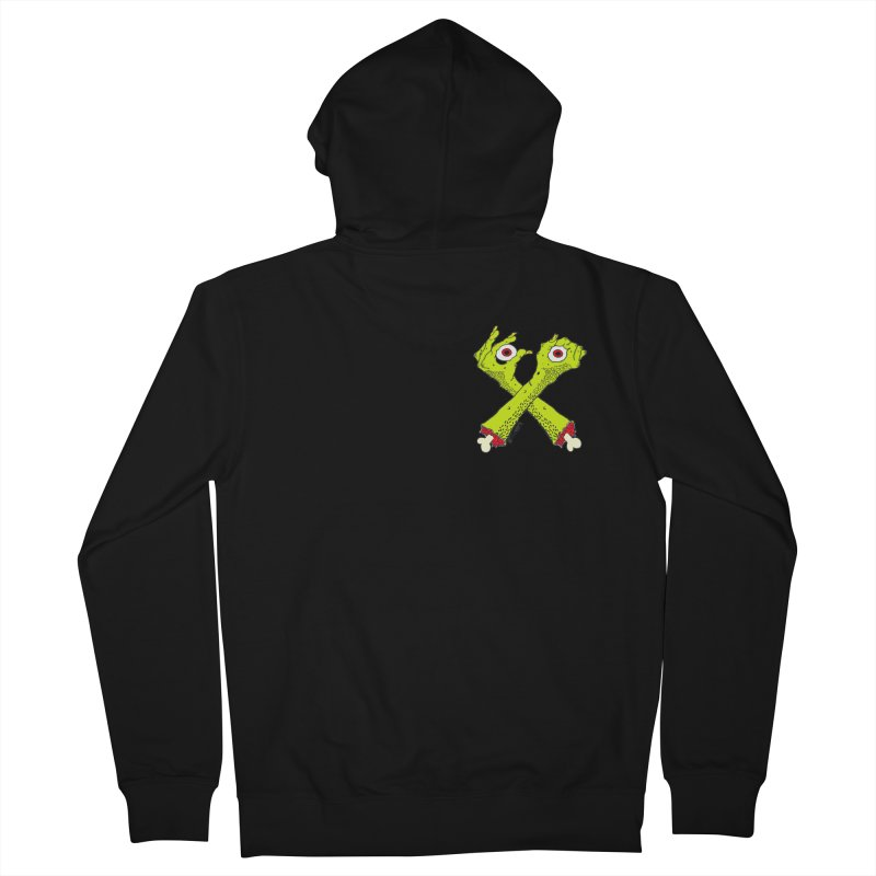 Zombie Arms chest print Men's French Terry Zip-Up Hoody by ZOMBIETEETH