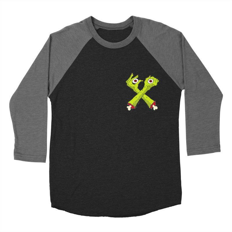 Zombie Arms chest print Women's Baseball Triblend Longsleeve T-Shirt by ZOMBIETEETH