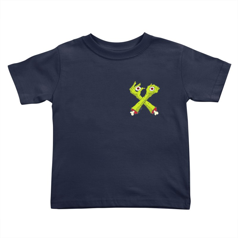Zombie Arms chest print Kids Toddler T-Shirt by ZOMBIETEETH