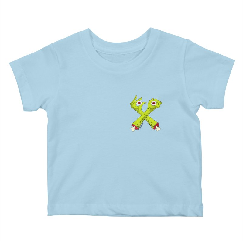 Zombie Arms chest print Kids Baby T-Shirt by ZOMBIETEETH