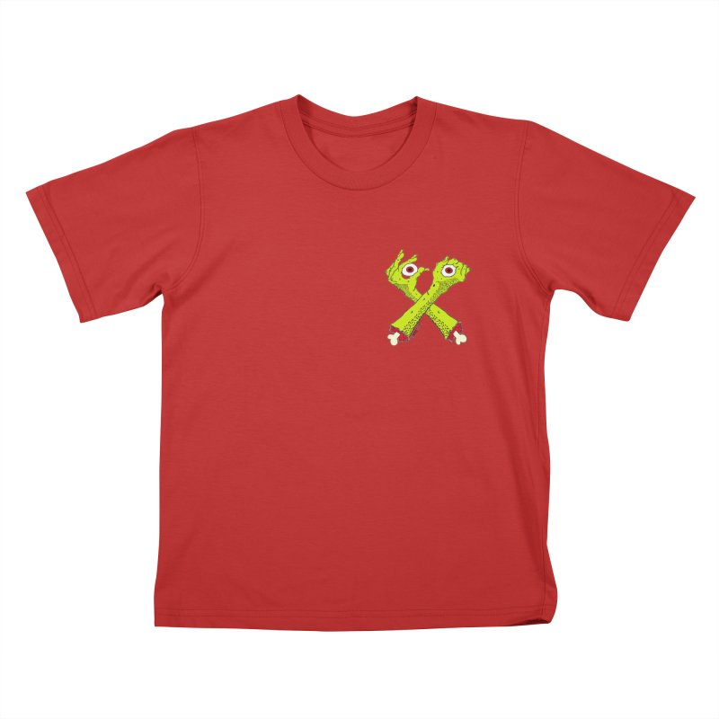 Zombie Arms chest print Kids T-Shirt by ZOMBIETEETH
