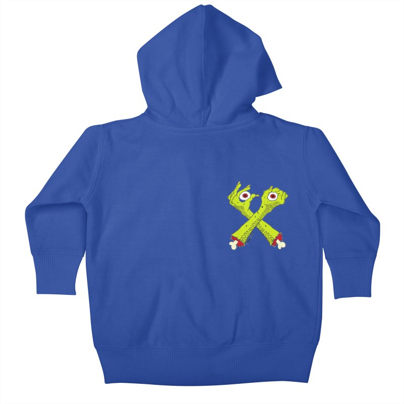 Zombie Arms chest print Kids Baby Zip-Up Hoody by ZOMBIETEETH