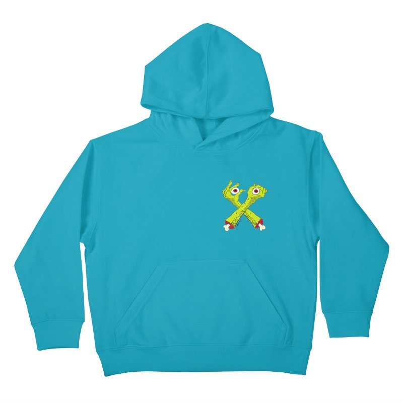 Zombie Arms chest print Kids Pullover Hoody by ZOMBIETEETH