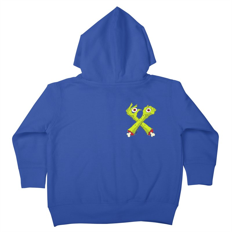 Zombie Arms chest print Kids Toddler Zip-Up Hoody by ZOMBIETEETH