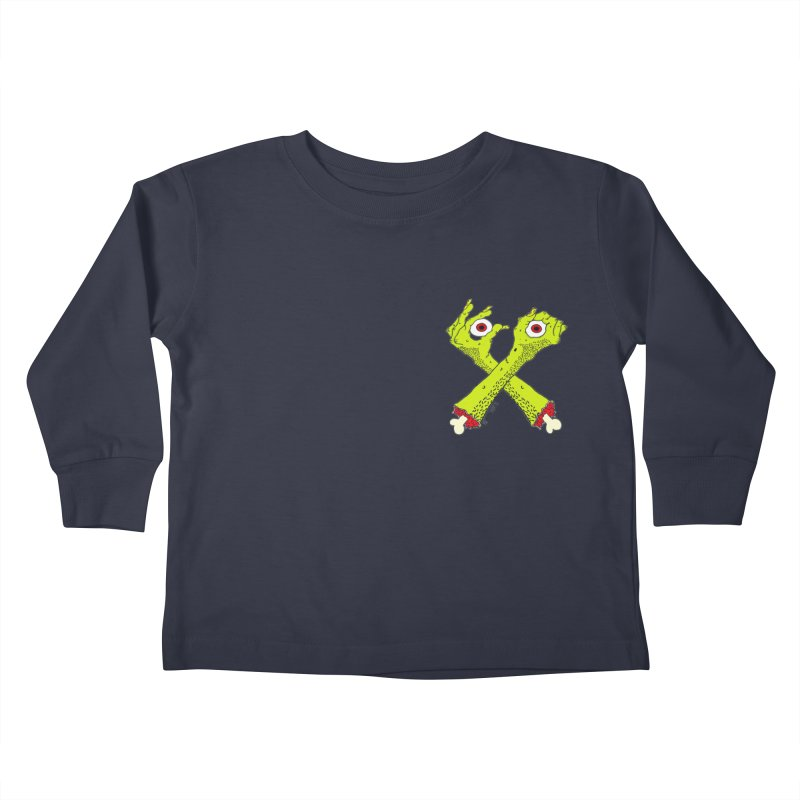 Zombie Arms chest print Kids Toddler Longsleeve T-Shirt by ZOMBIETEETH