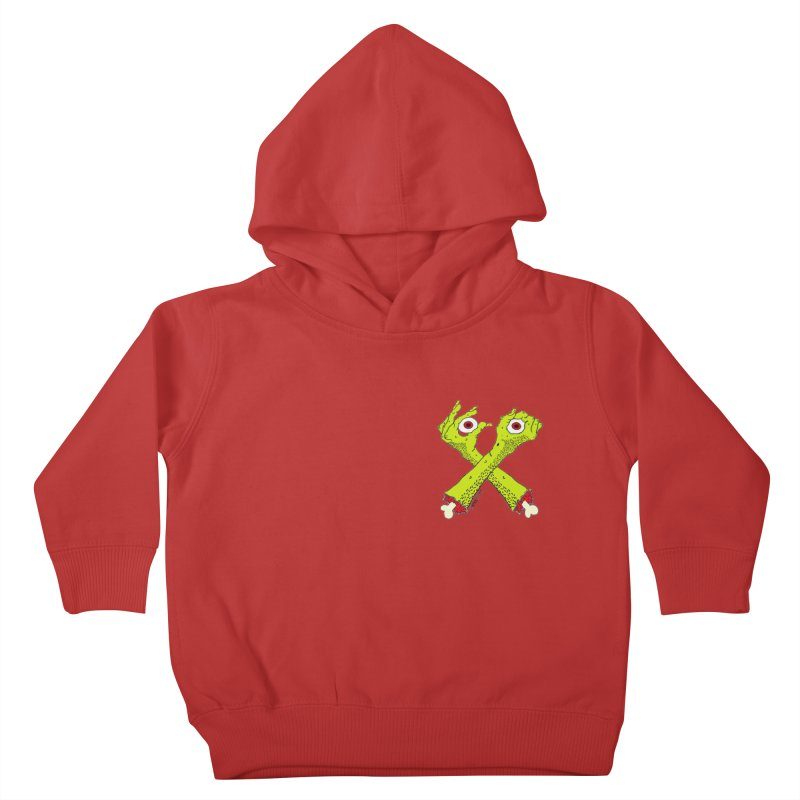 Zombie Arms chest print Kids Toddler Pullover Hoody by ZOMBIETEETH