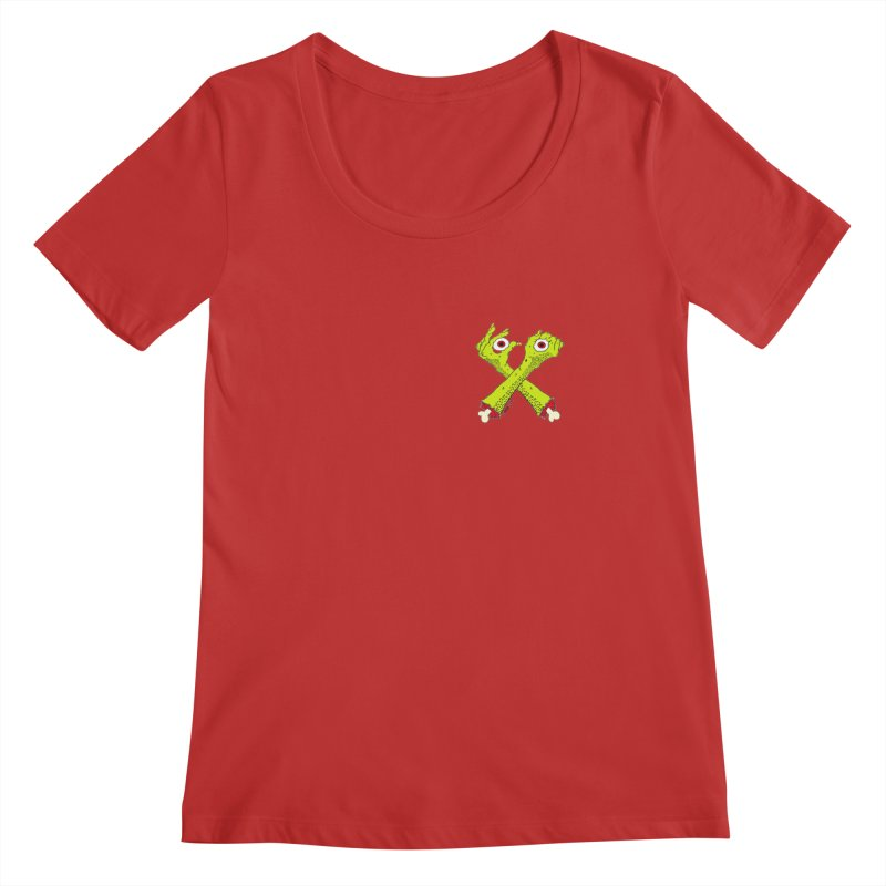 Zombie Arms chest print Women's Regular Scoop Neck by ZOMBIETEETH