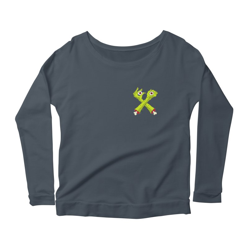 Zombie Arms chest print Women's Scoop Neck Longsleeve T-Shirt by ZOMBIETEETH