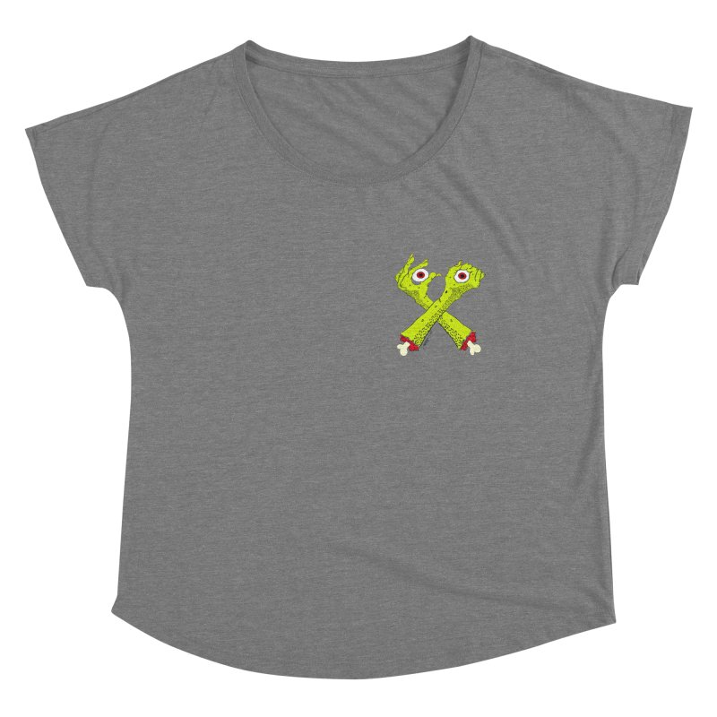 Zombie Arms chest print Women's Scoop Neck by ZOMBIETEETH