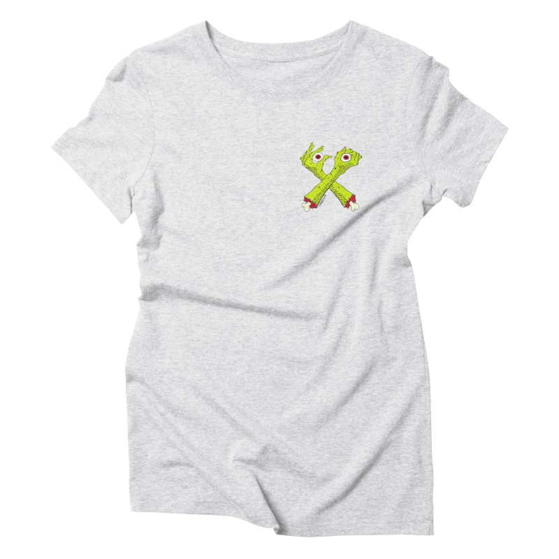Zombie Arms chest print Women's Triblend T-Shirt by ZOMBIETEETH