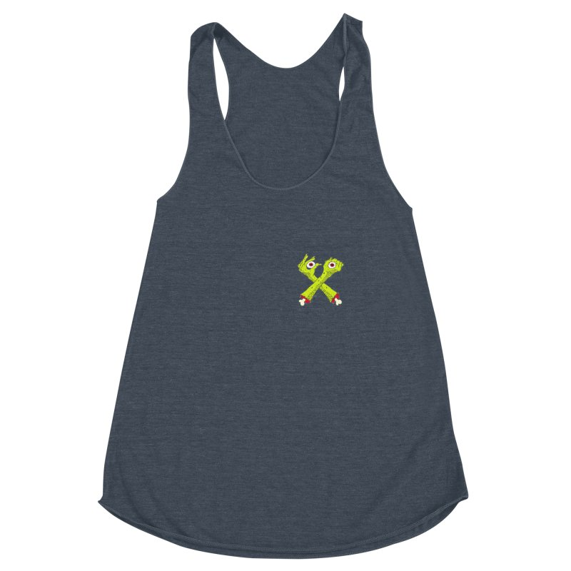 Zombie Arms chest print Women's Racerback Triblend Tank by ZOMBIETEETH