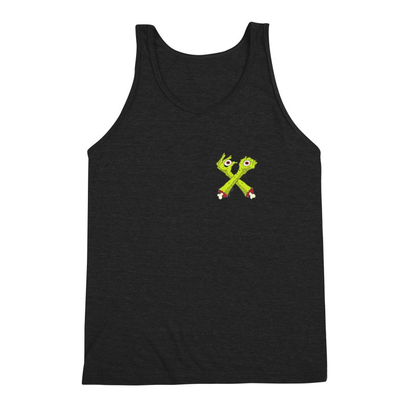 Zombie Arms chest print Men's Triblend Tank by ZOMBIETEETH