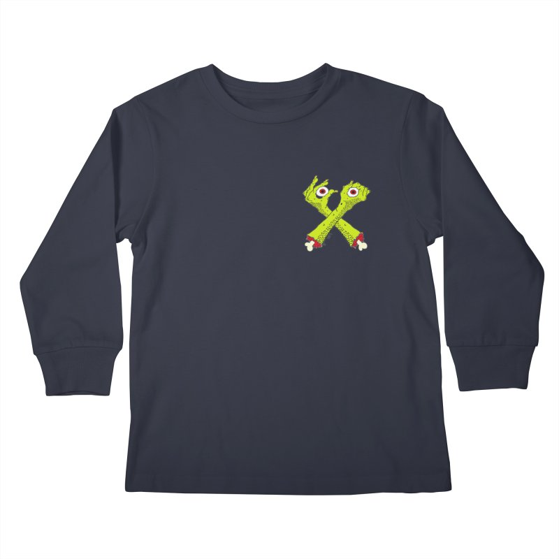 Zombie Arms chest print Kids Longsleeve T-Shirt by ZOMBIETEETH