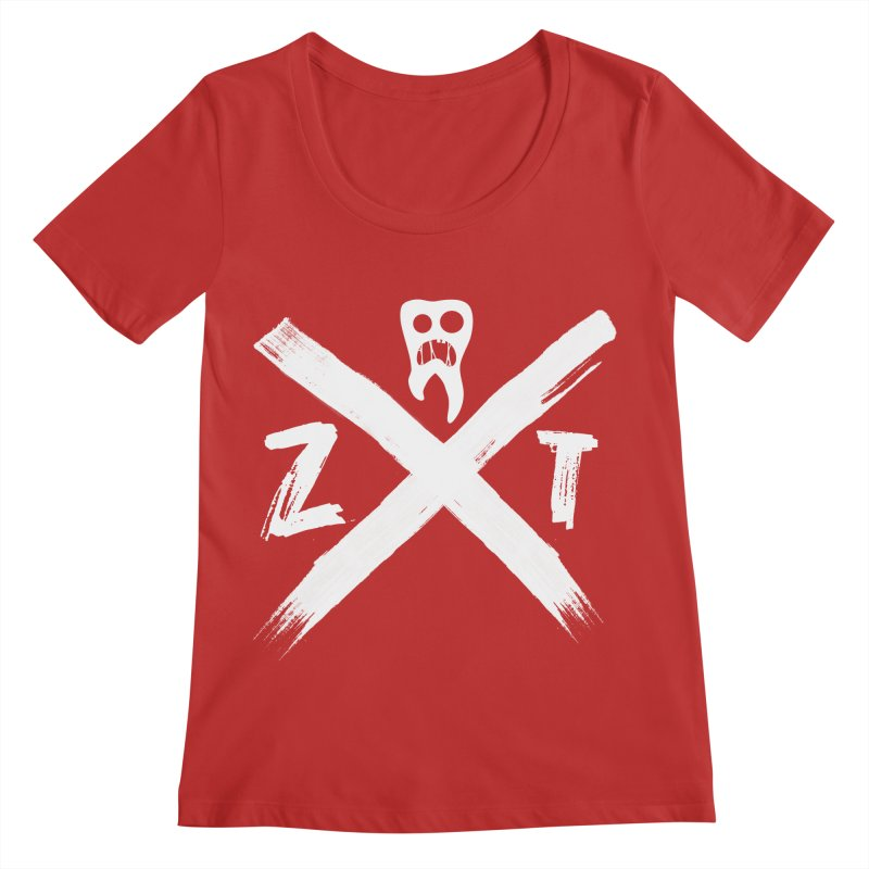 Edge Women's Regular Scoop Neck by ZOMBIETEETH