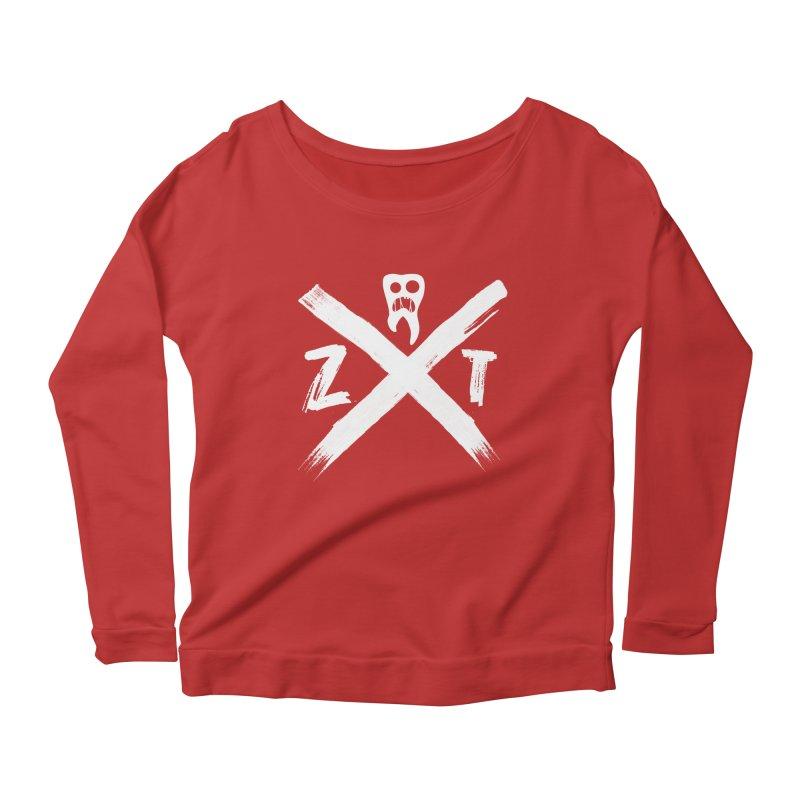 Edge Women's Scoop Neck Longsleeve T-Shirt by ZOMBIETEETH
