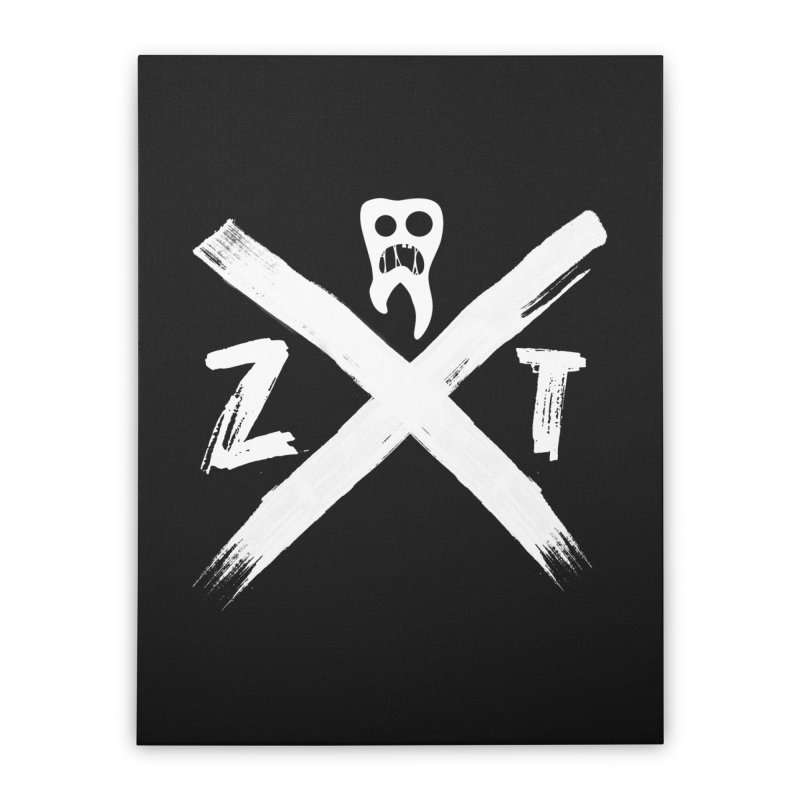 Edge Home Stretched Canvas by ZOMBIETEETH