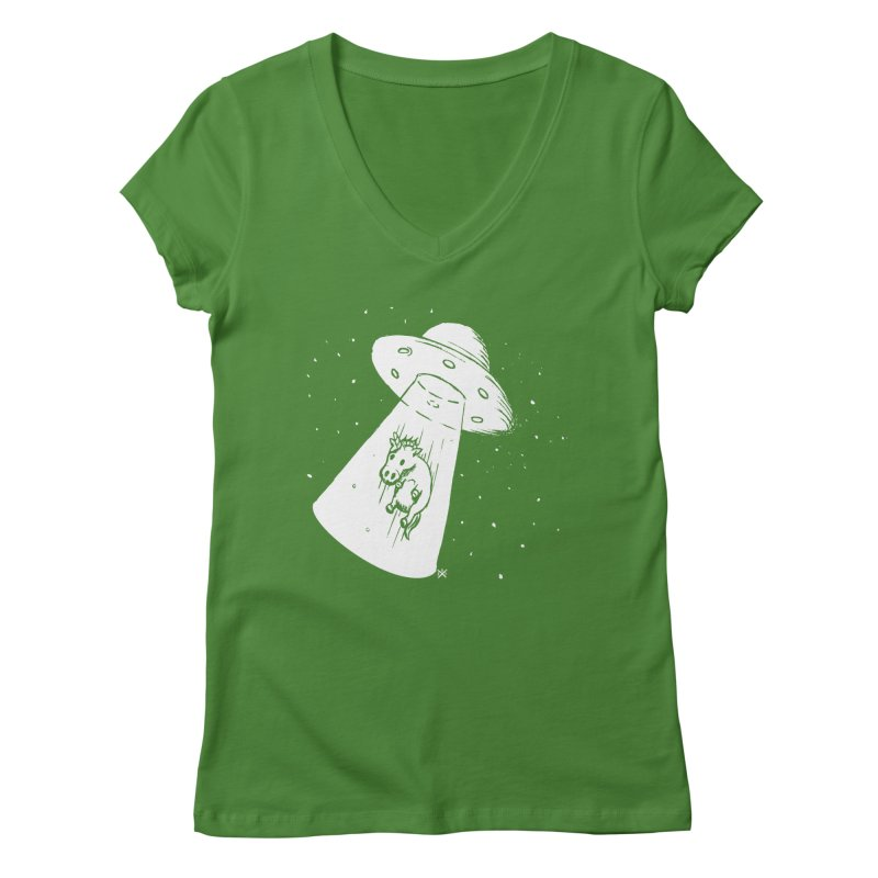Take me to your Unicorn Women's Regular V-Neck by ZOMBIETEETH
