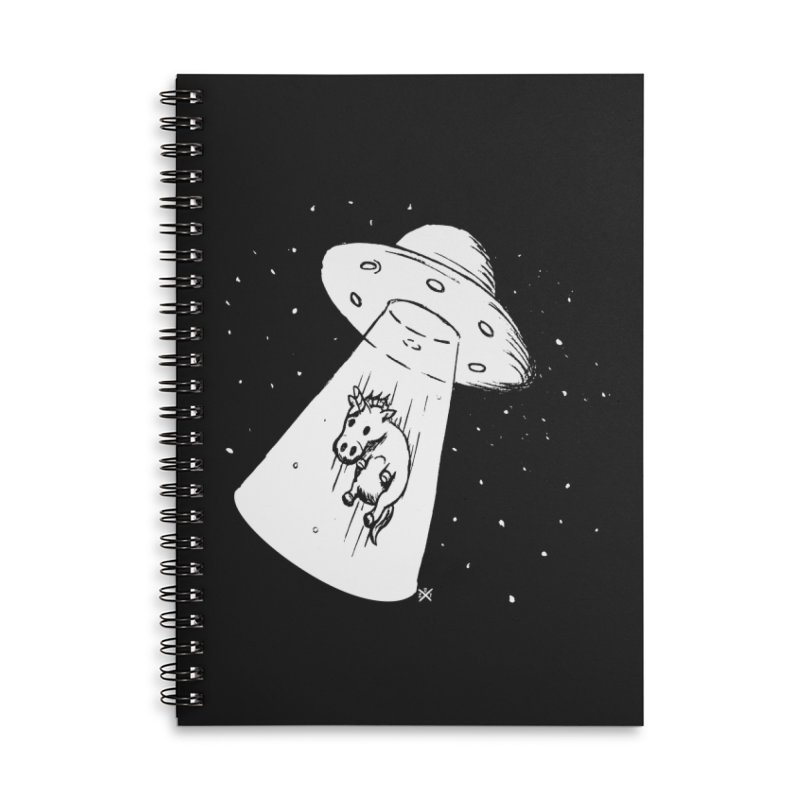 Take me to your Unicorn Accessories Lined Spiral Notebook by ZOMBIETEETH