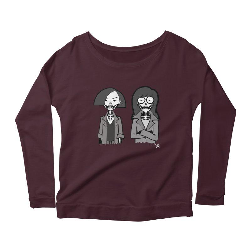 Sick Sad World Women's Scoop Neck Longsleeve T-Shirt by ZOMBIETEETH