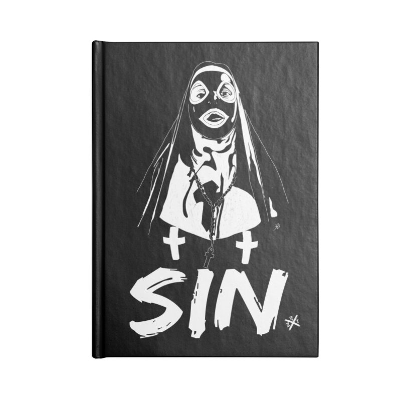 SIN Accessories Lined Journal Notebook by ZOMBIETEETH