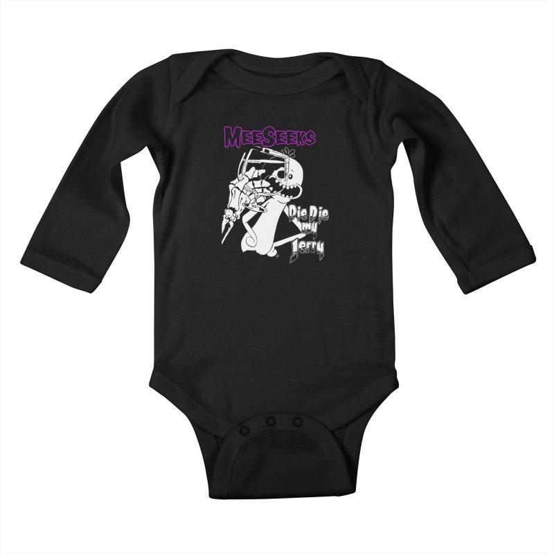 Meeseeks - Die Die my Jerry Kids Baby Longsleeve Bodysuit by ZOMBIETEETH