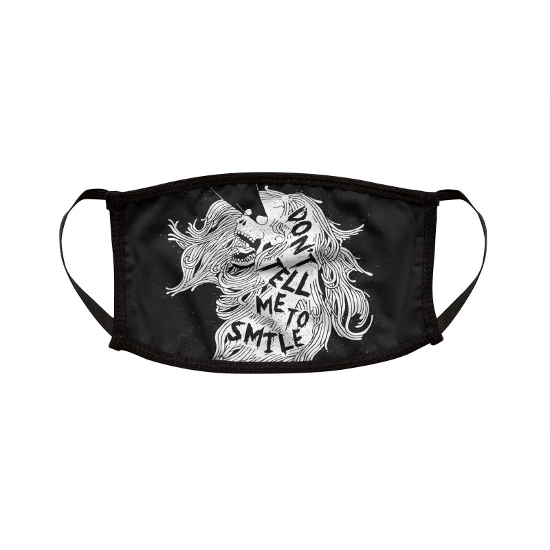 Don't tell me to smile Accessories Face Mask by ZOMBIETEETH