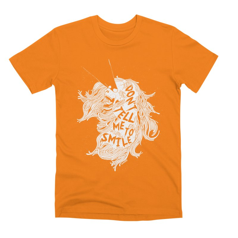 Don't tell me to smile Men's T-Shirt by ZOMBIETEETH