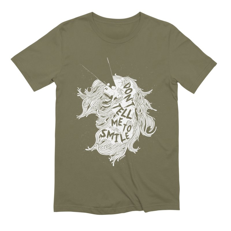 Don't tell me to smile Men's Extra Soft T-Shirt by ZOMBIETEETH