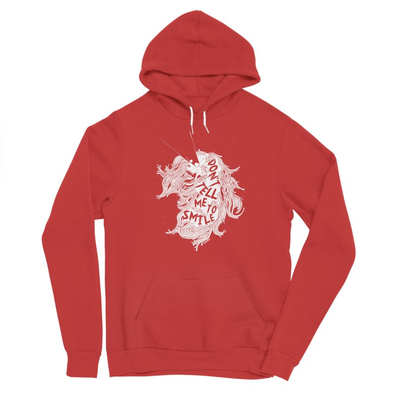 Don't tell me to smile Men's Pullover Hoody by ZOMBIETEETH