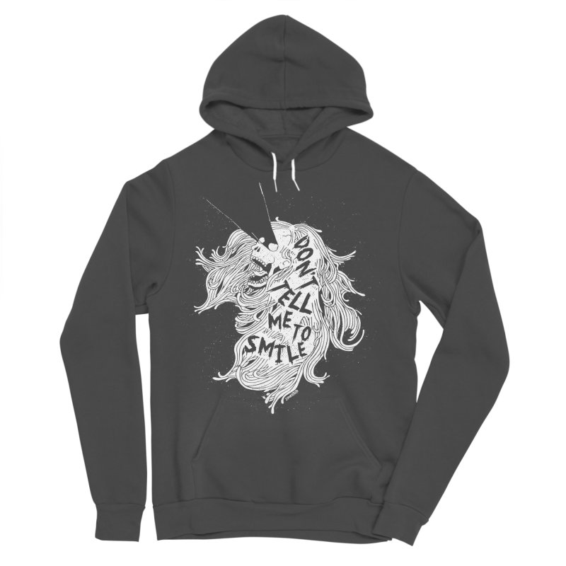 Don't tell me to smile Men's Sponge Fleece Pullover Hoody by ZOMBIETEETH
