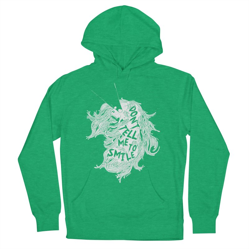 Don't tell me to smile Women's French Terry Pullover Hoody by ZOMBIETEETH