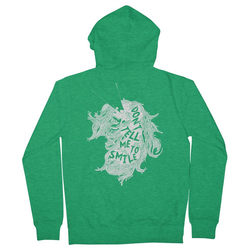 Don't tell me to smile Women's Zip-Up Hoody by ZOMBIETEETH