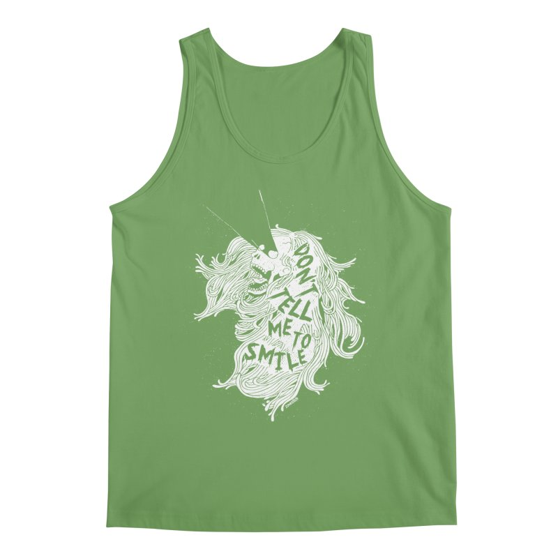 Don't tell me to smile Men's Tank by ZOMBIETEETH