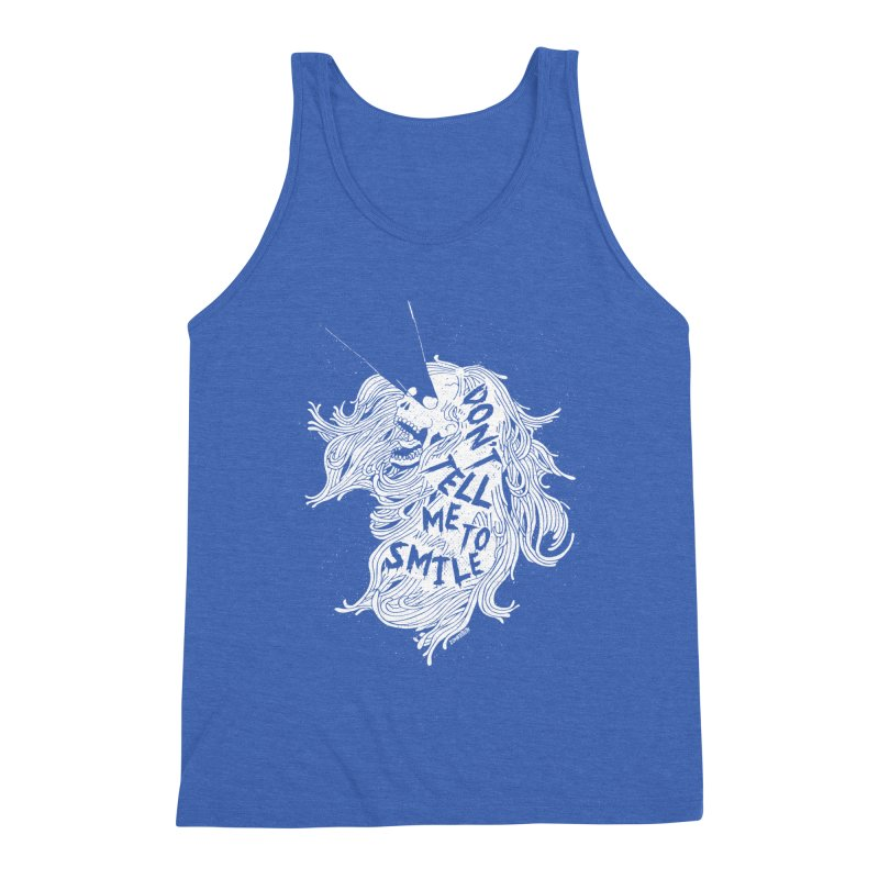 Don't tell me to smile Men's Triblend Tank by ZOMBIETEETH