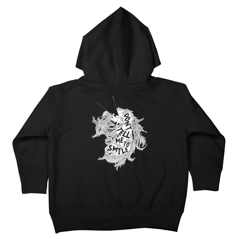 Don't tell me to smile Kids Toddler Zip-Up Hoody by ZOMBIETEETH