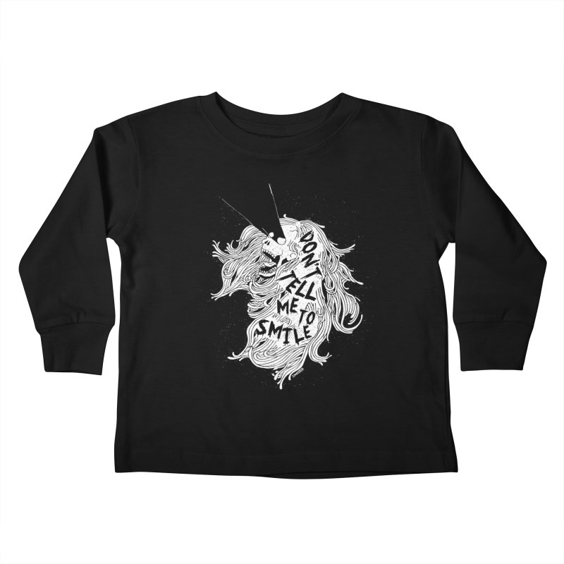 Don't tell me to smile Kids Toddler Longsleeve T-Shirt by ZOMBIETEETH