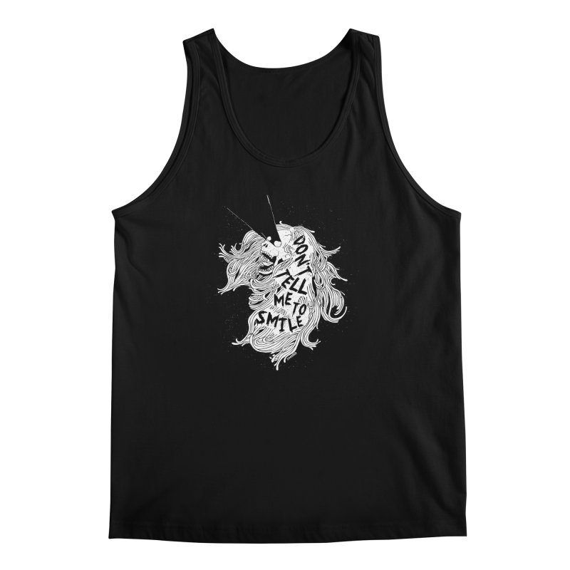 Don't tell me to smile Men's Regular Tank by ZOMBIETEETH