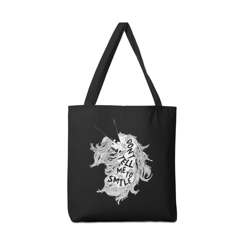 Don't tell me to smile Accessories Tote Bag Bag by ZOMBIETEETH