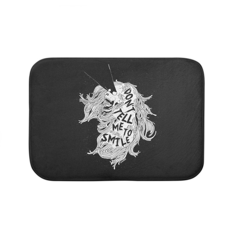 Don't tell me to smile Home Bath Mat by ZOMBIETEETH