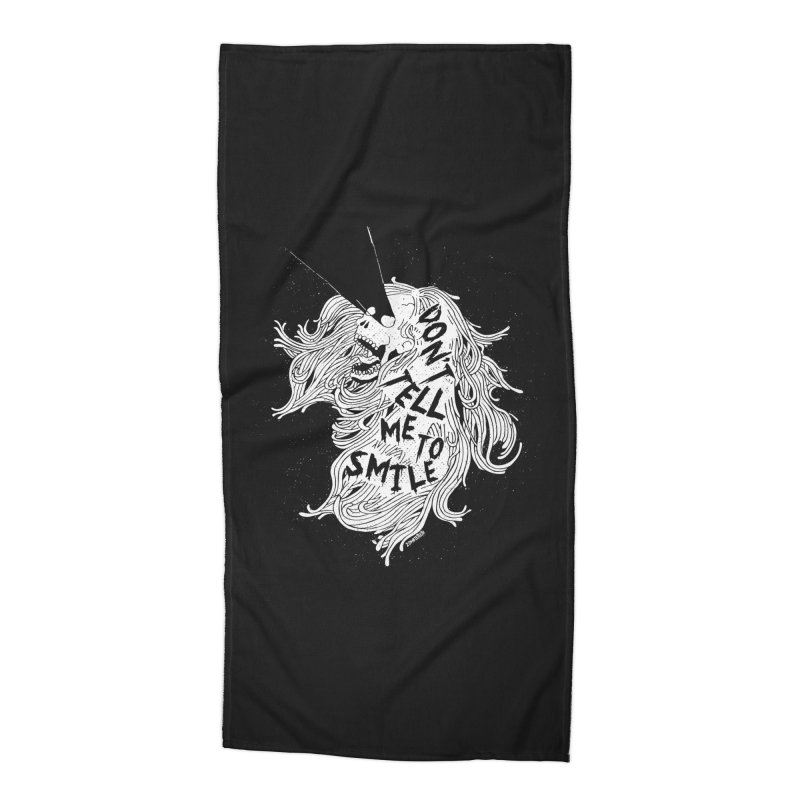 Don't tell me to smile Accessories Beach Towel by ZOMBIETEETH