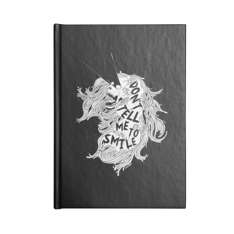 Don't tell me to smile Accessories Lined Journal Notebook by ZOMBIETEETH