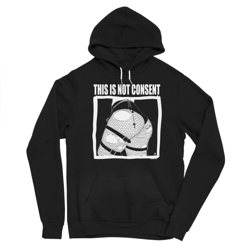 This is not consent (black) Men's Pullover Hoody by ZOMBIETEETH