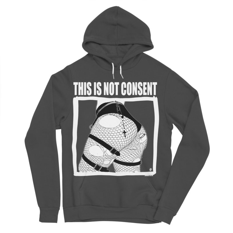 This is not consent (black) Women's Sponge Fleece Pullover Hoody by ZOMBIETEETH