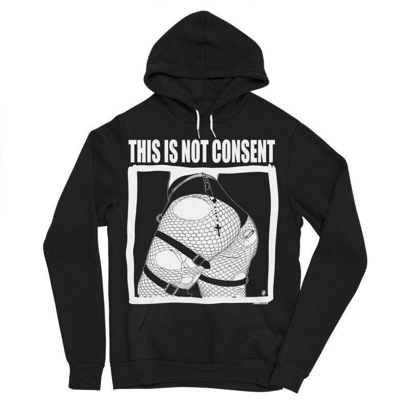 This is not consent (black) Men's Sponge Fleece Pullover Hoody by ZOMBIETEETH
