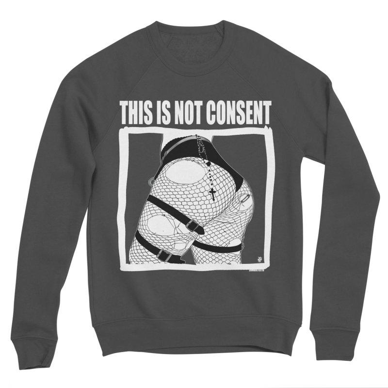 This is not consent (black) Men's Sponge Fleece Sweatshirt by ZOMBIETEETH