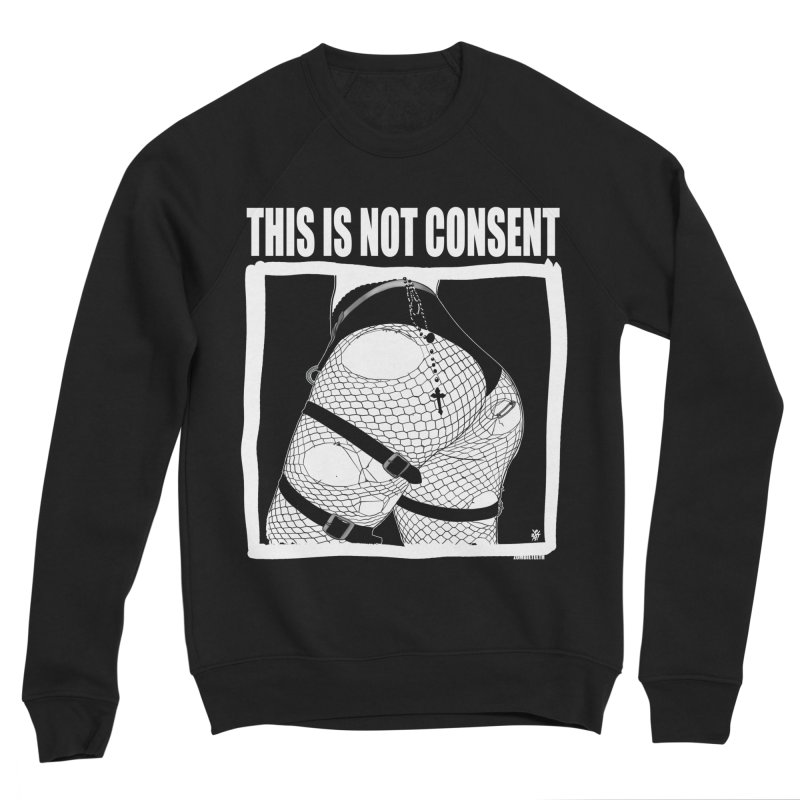 This is not consent (black) Men's Sponge Fleece Sweatshirt by ZOMBIETEETH