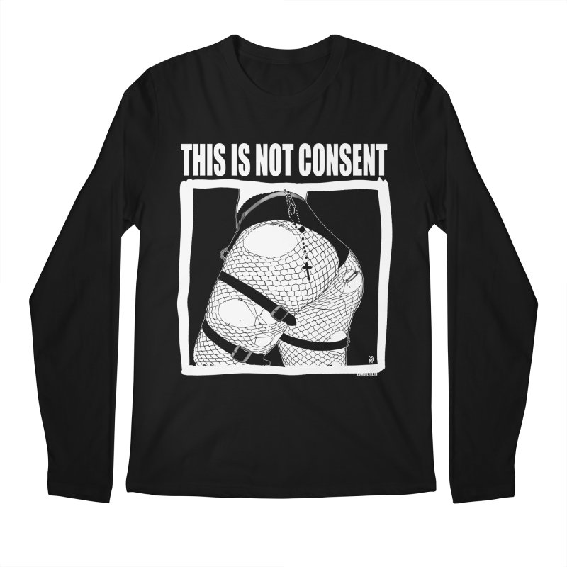 This is not consent (black) Men's Longsleeve T-Shirt by ZOMBIETEETH