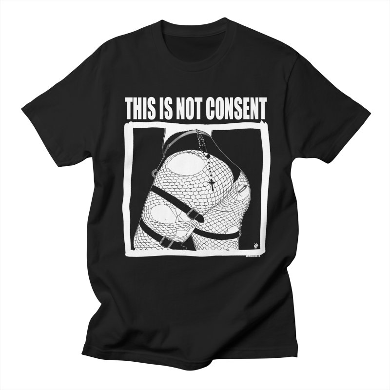 This is not consent (black) Men's Regular T-Shirt by ZOMBIETEETH