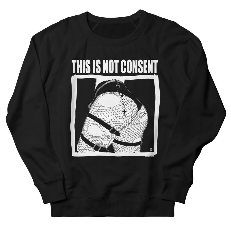This is not consent (black) Men's French Terry Sweatshirt by ZOMBIETEETH
