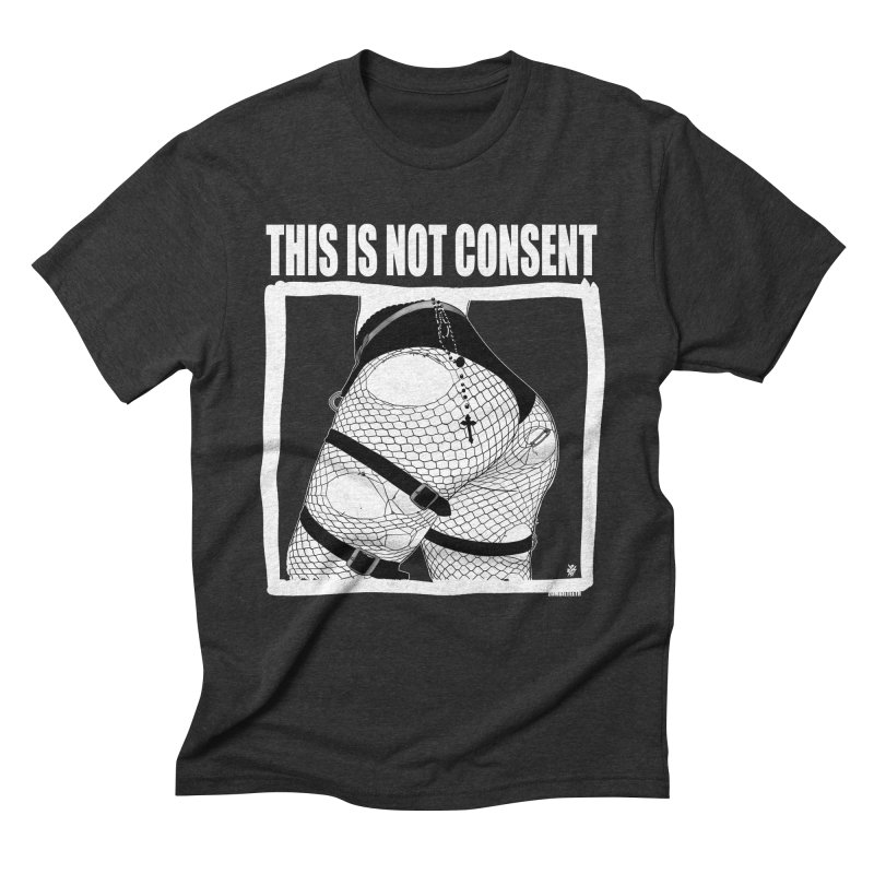 This is not consent (black) Men's Triblend T-Shirt by ZOMBIETEETH